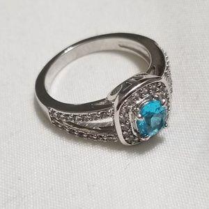 Birthstone ring. Aquamarine.